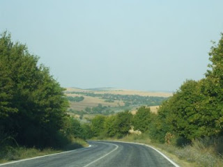Bulgarian road and scenery