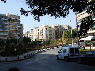 typical Thessaloniki street