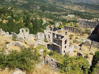 the settlement under the castle and part of the Mystras citadel