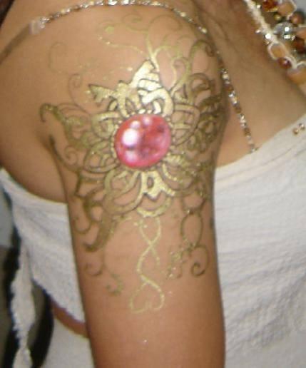 24 Carat Gold Tattoo in Dubai
