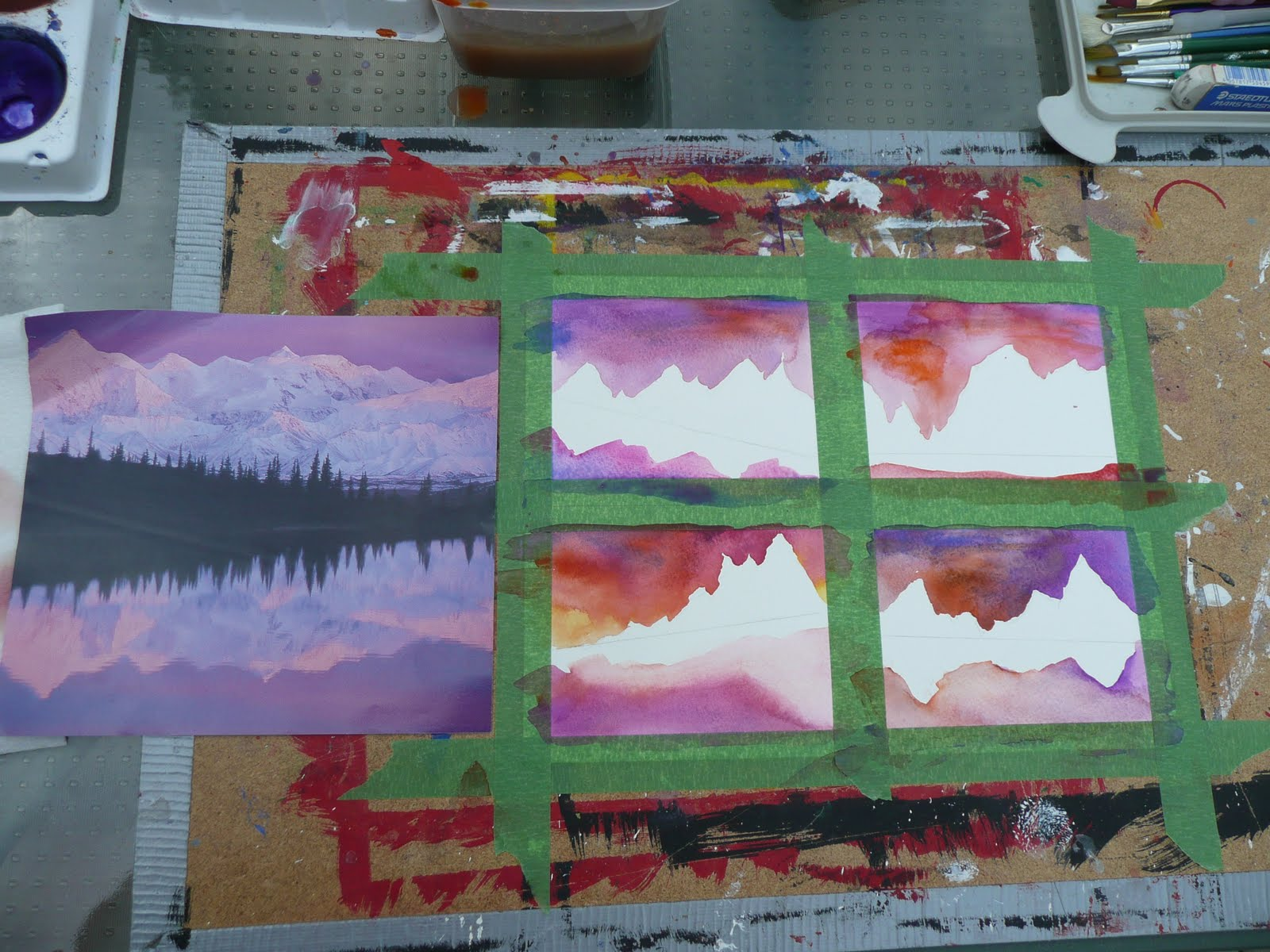 That Artist Woman Mini Landscapes A Lesson In Horizon Lines