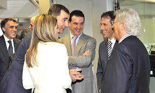 Los príncipes de Asturias con la SER