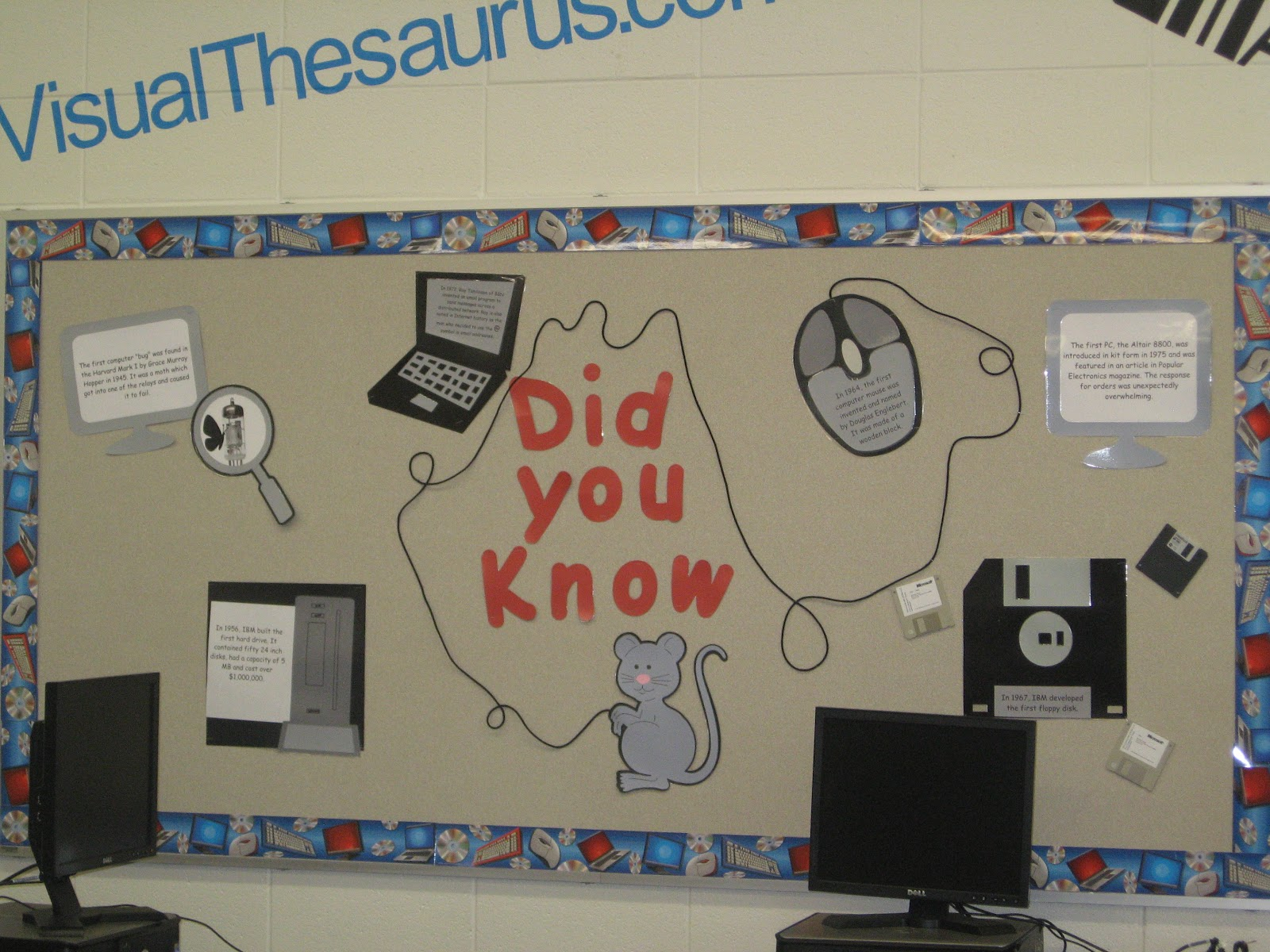 Excellent Computer Lab Bulletin Board Ideas Connecting The Bots Largest Home Design Picture Inspirations Pitcheantrous