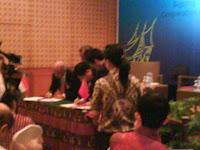 Suasana Registrasi Dialog CRI-Elshinta