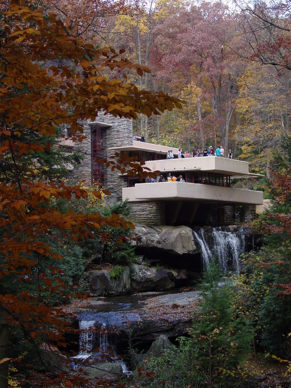 Falling Water House Wallpaper Solitary Dog Sculptor I Architecture Frank Lloyd Wright