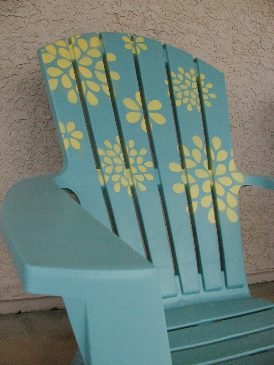 ideas for painting adirondack chairs leather corner chair cactus and olive stencil tutorial