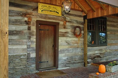 the original main lodge was an old log cabin