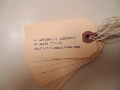Hand made business cards, via an affordable wardrobe.