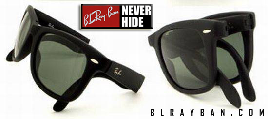 518b22847e4 Ray Ban Rb4105 Folding Wayfarer Sunglasses Glossy Black Frame Gray Lens