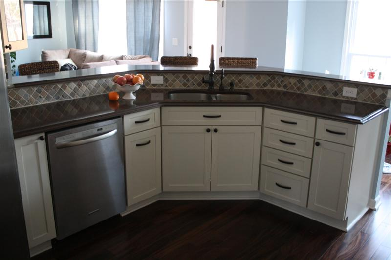 Close Up Upper Glass Kitchen Cabinet Samples