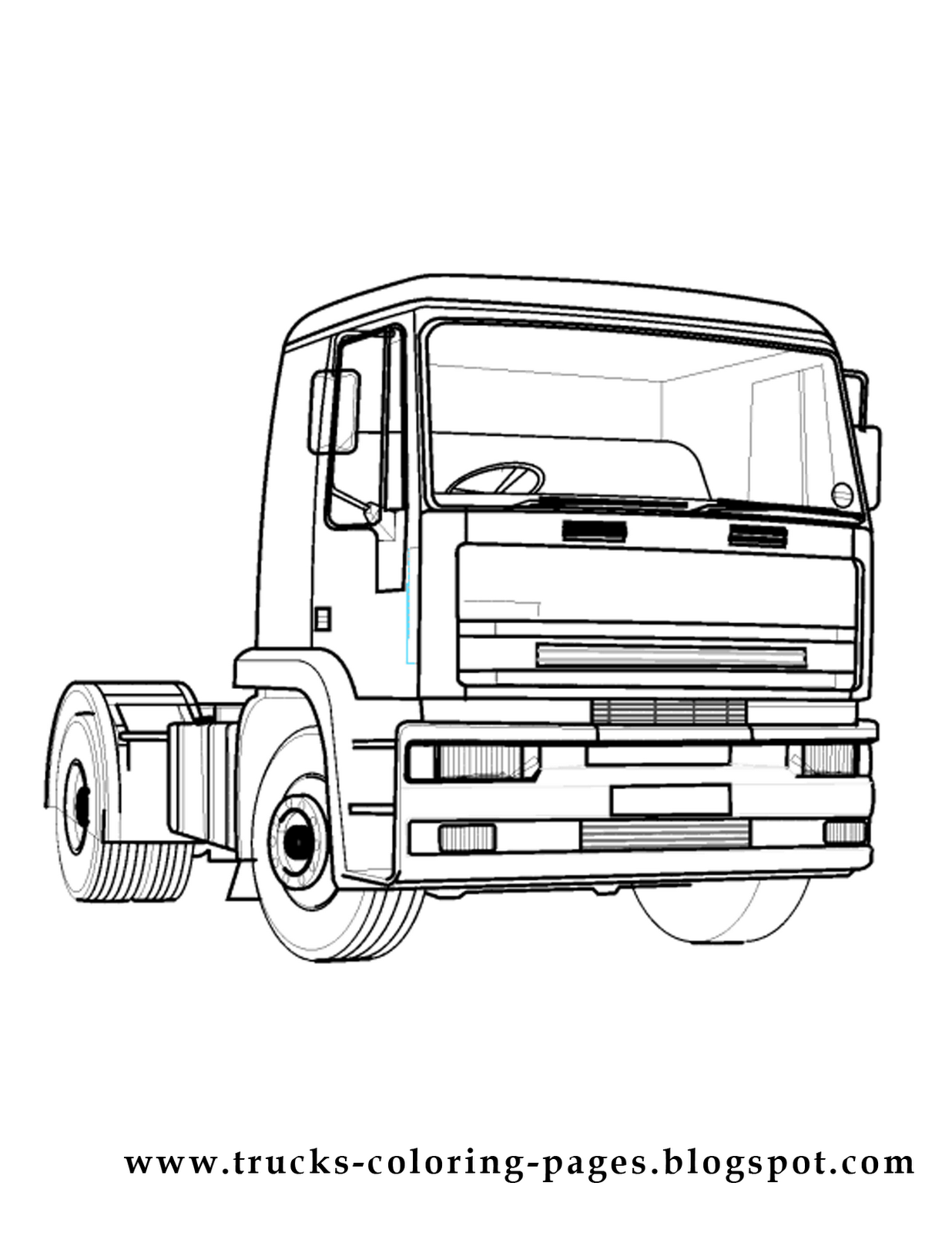 Trucks Coloring Pages: More Trucks Coloring Pages