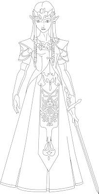 princess zelda coloring pages   Zelda Coloring Pages