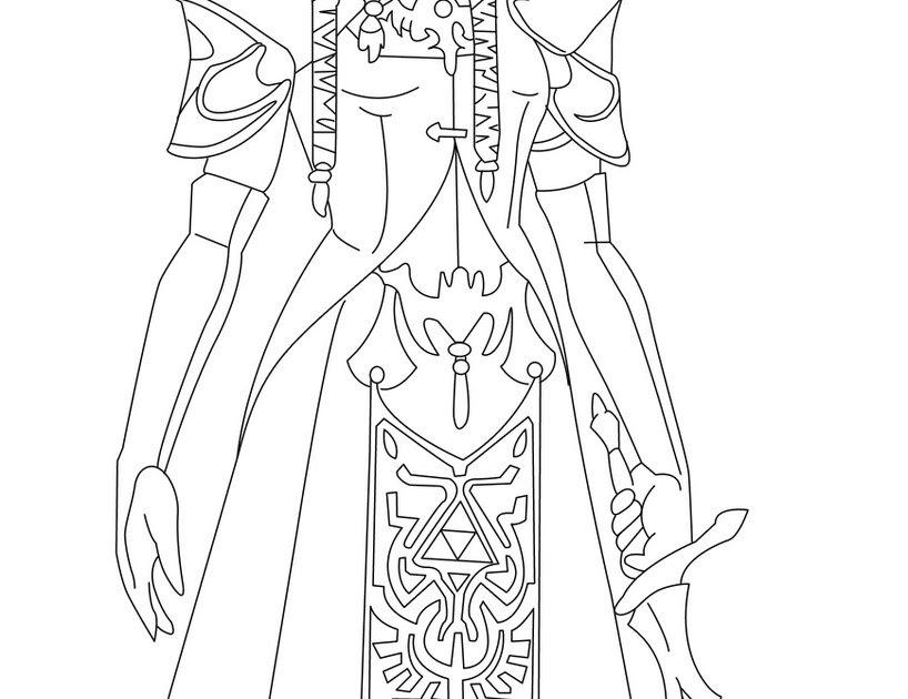 princess zelda coloring pages   Princess Zelda Rose Pages Coloring Pages