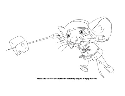 tale of desperoux coloring pages - photo#4
