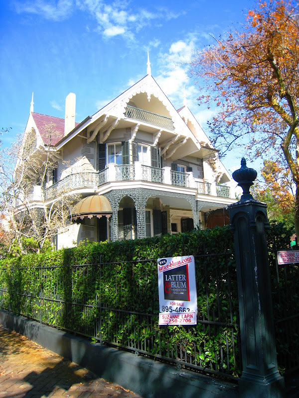 Sandra Bullock's ornate Victorian home in the Garden District of New Orleans