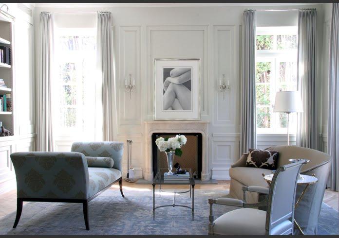 Future domestic goddess wordless wednesday paneled walls - Grey living room walls ...