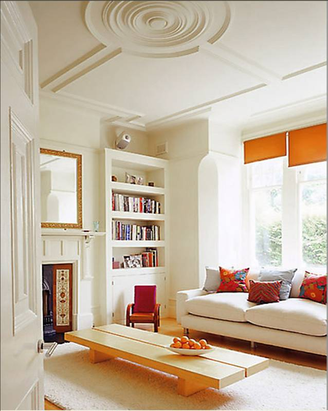 Modern london living spaces cococozy - Orange walls living room ...