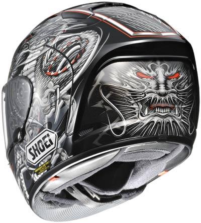 racing helmets garage shoei x spirit ii 2011. Black Bedroom Furniture Sets. Home Design Ideas