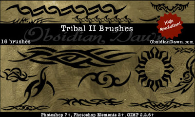 Tribal 2 Photoshop Brushes