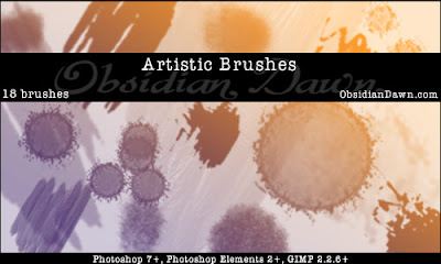 Artistic Photoshop Brushes