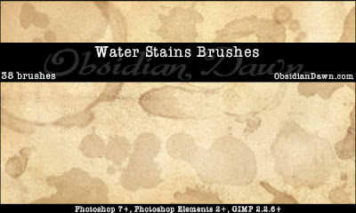 Waterstains Photoshop Brushes