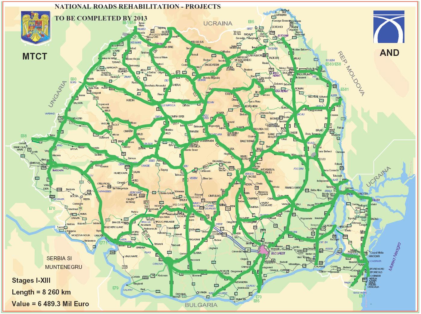 Harabizz Harta Drumurilor Rutiere Din Romania