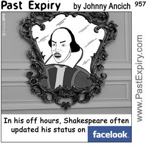 [CARTOON] Facebook Shakespeare.  images, pictures, blog, celebrity, cartoon, Facebook, internet, social networking, spoof.