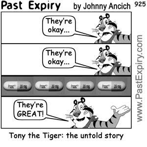 past expiry cartoon more cartoon tony the tiger untold story