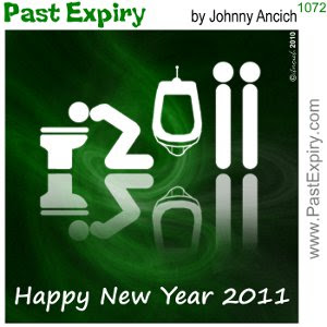 [CARTOON] Happy New Year 2011. cartoon, bathroom, drinks, men, pictogram,