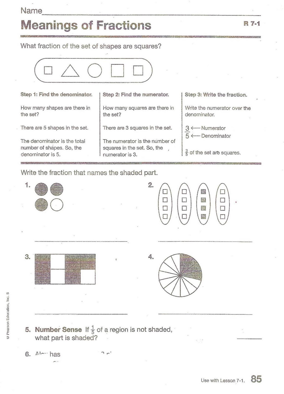 5th Grade At Sage Hills 7 1 Math Homework The Meaning Of