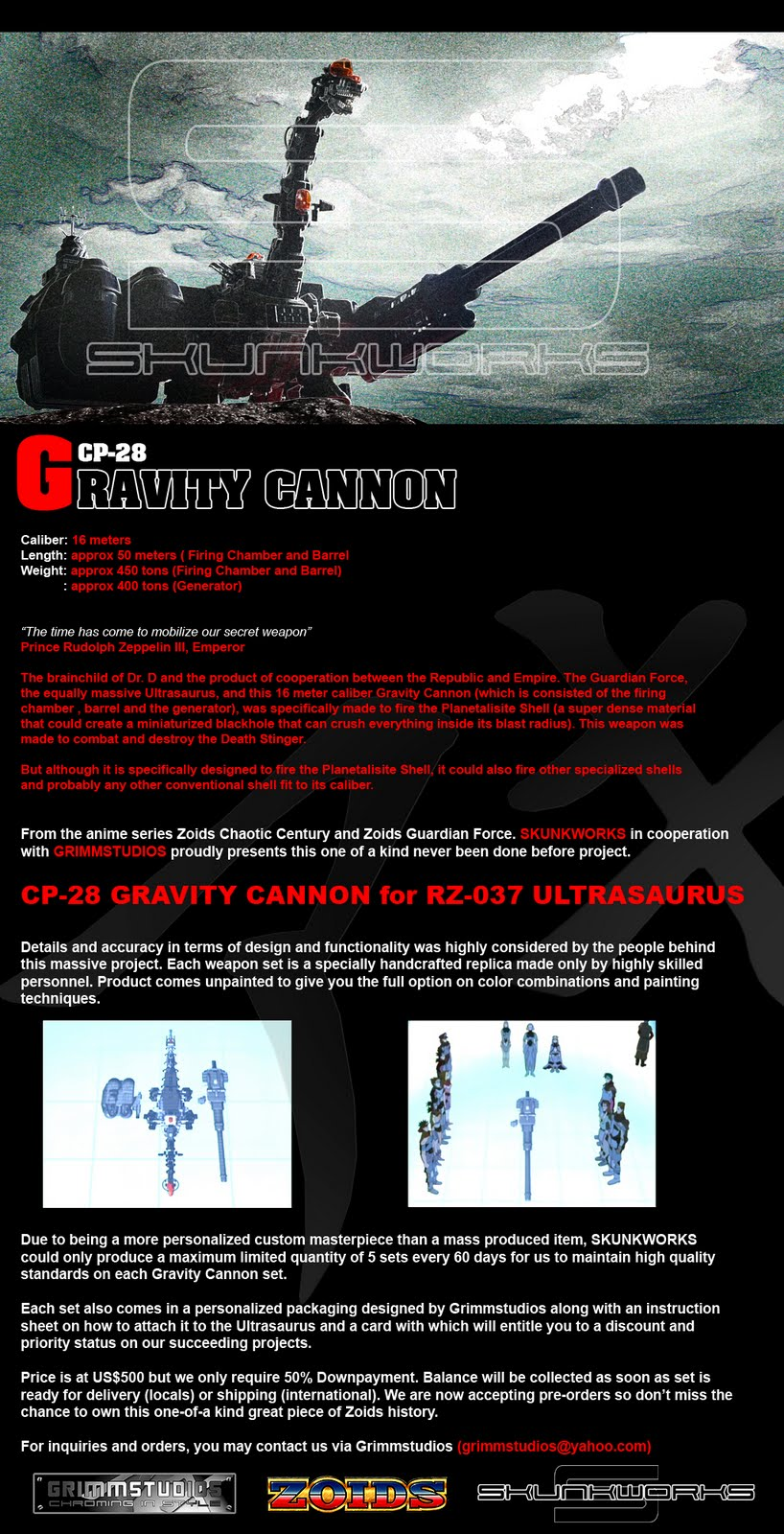 zoids gravity cannonZoids Ultrasaurus Gravity Cannon