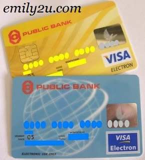 My New Public Bank Visa Electron Debit Card