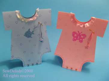 Baby Onsie Card onesie tutorial craft project babies boy girl twins