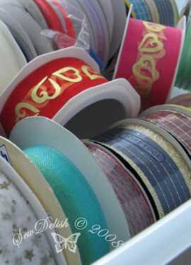 ribbons spools store organize cord wire organise sort shoe rack
