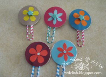 birthday  craft party paperclip bookmarks make