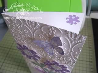 Cricut expression Cuttlebug provocraft embossing folder cartridge card butterfly emboss
