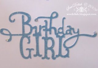 Birthday Girl 10 high heel Shoes cricut martha stewart personal impressions stamp