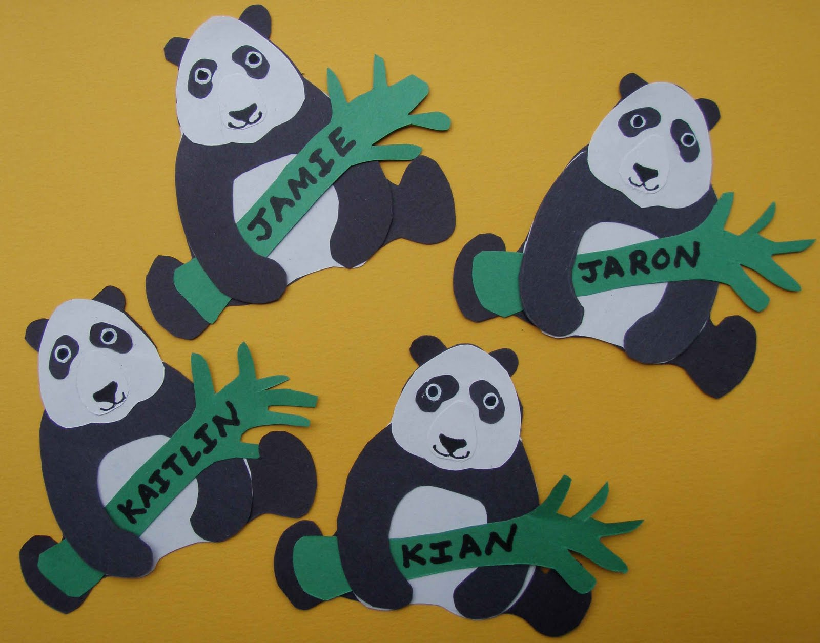 Crack Of Dawn Crafts Earth Day Panda Name Tags