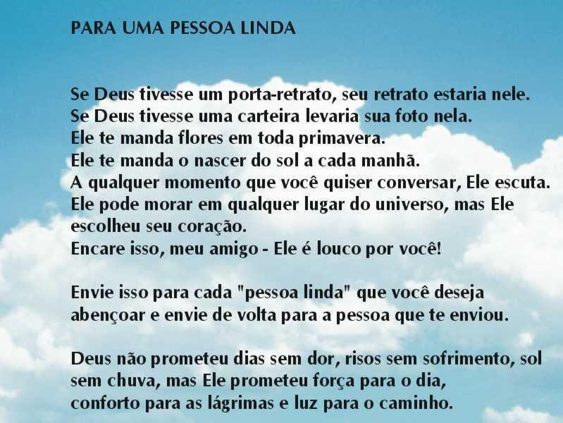 Fernanda...: Você é Uma Pessoa Linda