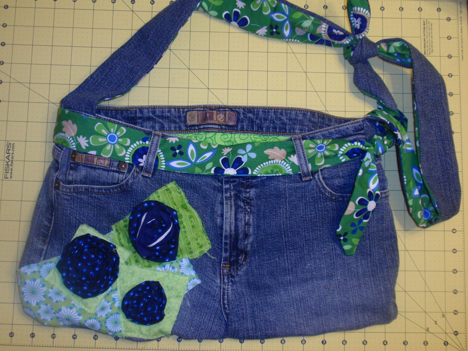 Diary Of A Crafty Lady Jean Purse Jean Tote From