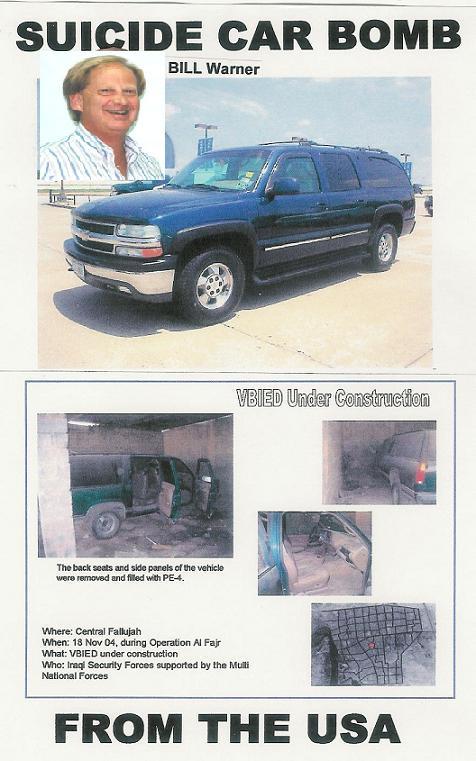 Image result for STOLEN CARS car bombs iraq pi bill warner