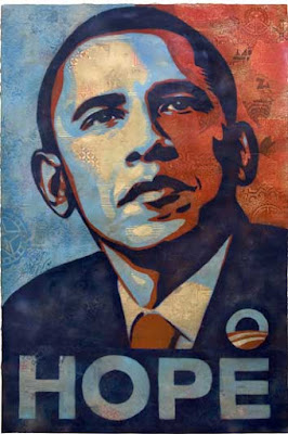 Obama portrait by Fairey