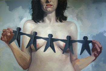 Ann Piper – Censored – Oil on Canvas