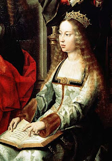 Isabella I of Spain, A detail of the painting Our Lady of the Fly, attributed to Gerard David