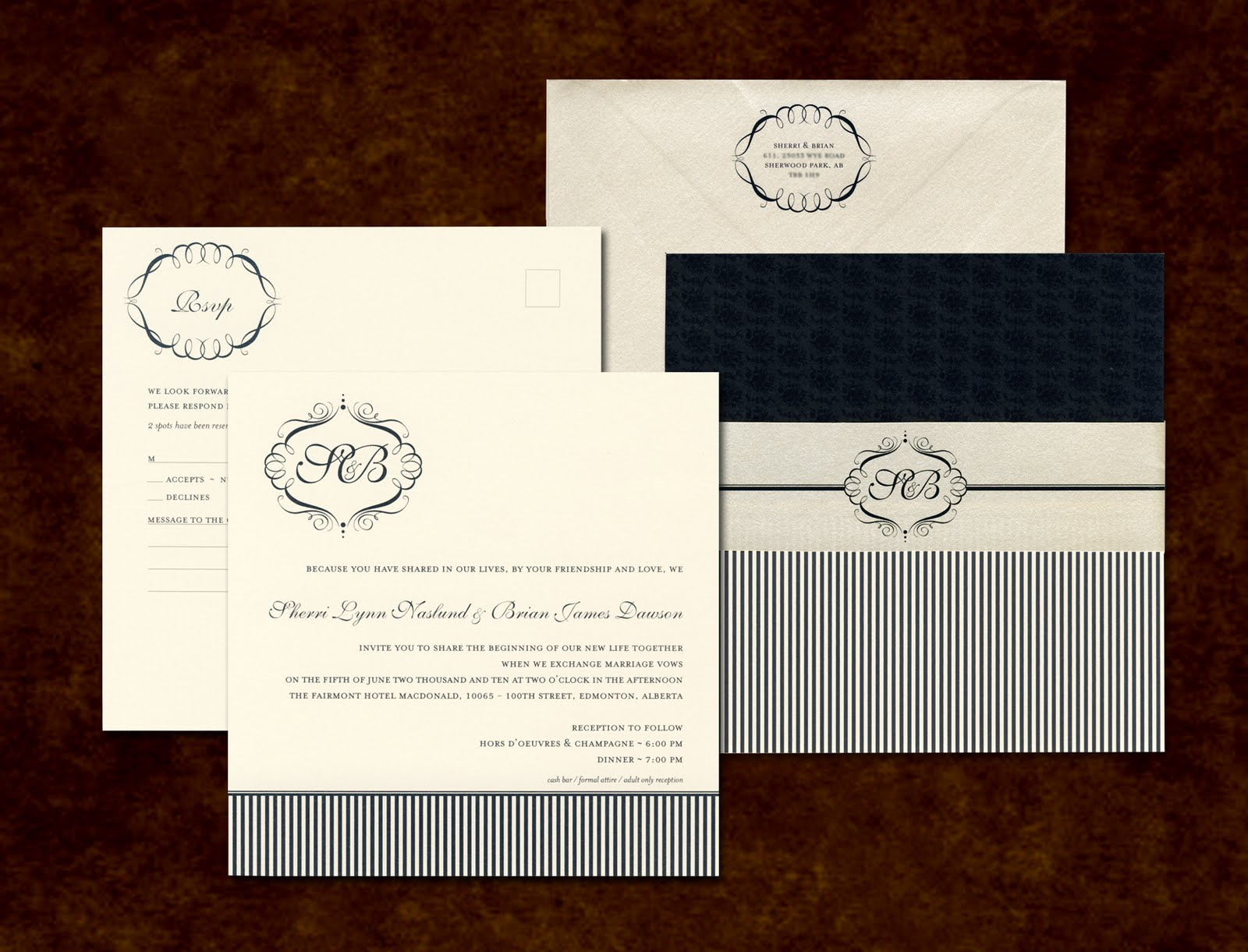 Edmonton Wedding Invitations: It's All Polkadots!: Recent Work :: Edmonton Wedding