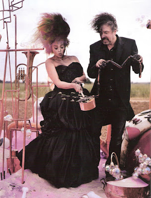 Tim Burton with his wife. by Tim Walker