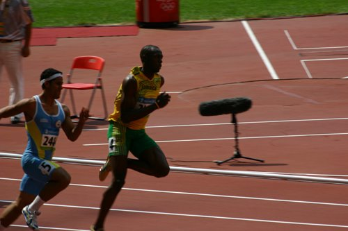 Olympic Men's 200 Metres heats; Bolt from Jamaica
