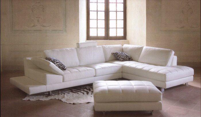 Consigli per la casa e l 39 arredamento come abbinare le for Divani pelle bianca