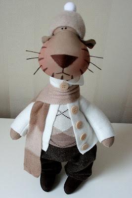 Выкройка тигра от Татьяны Коннэ.  Мы выражаем благодарность ... куклы...