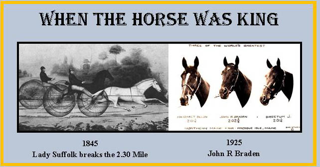 When the Horse was King --1845 to 1925